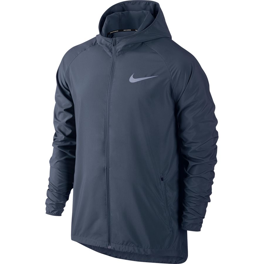 5756be8db4 Nike - Essential Hooded Running Jacket - Men's - Monsoon Blue/Reflective  Silver