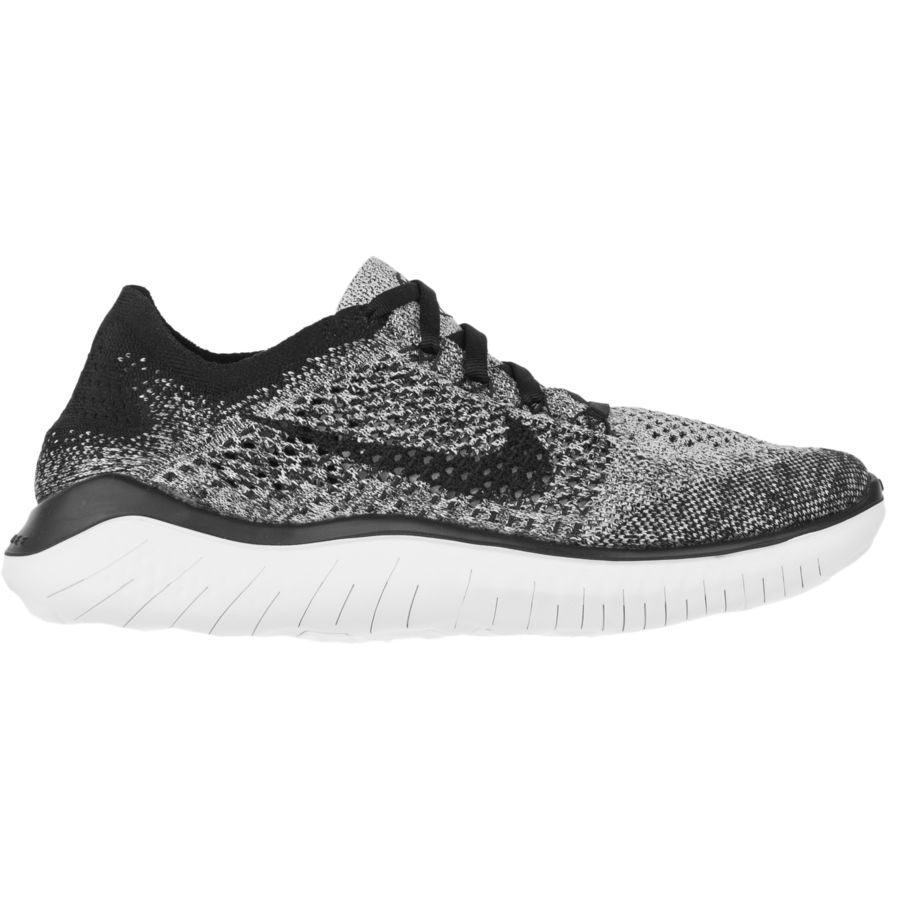 087f63385b9e Nike - Free RN Flyknit Running Shoe - Women s - White Black