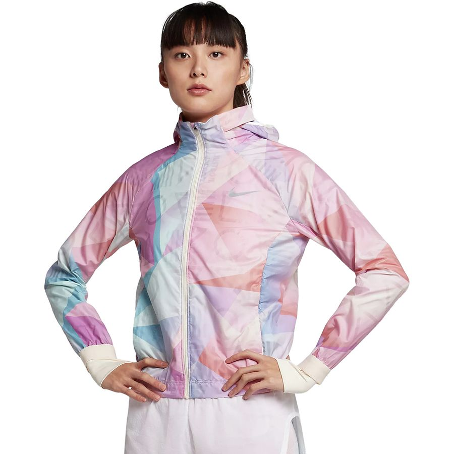 newest collection 9fb18 080e7 Nike - Shield PR FL Hooded Jacket - Women s - Guava Ice Guava Ice