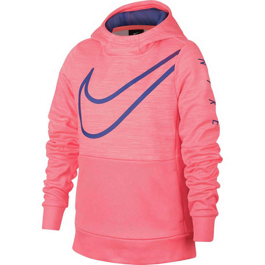 31679601828c Nike - Therma Graphic Pullover Hoodie - Girls  - Lava Glow Rush Violet