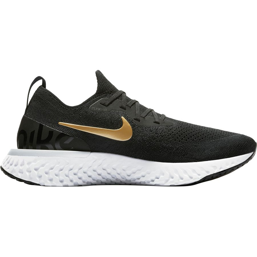5eb0ab39ef82 Nike - Epic React Flyknit Running Shoe - Women s - Black Metallic  Gold-Metallic