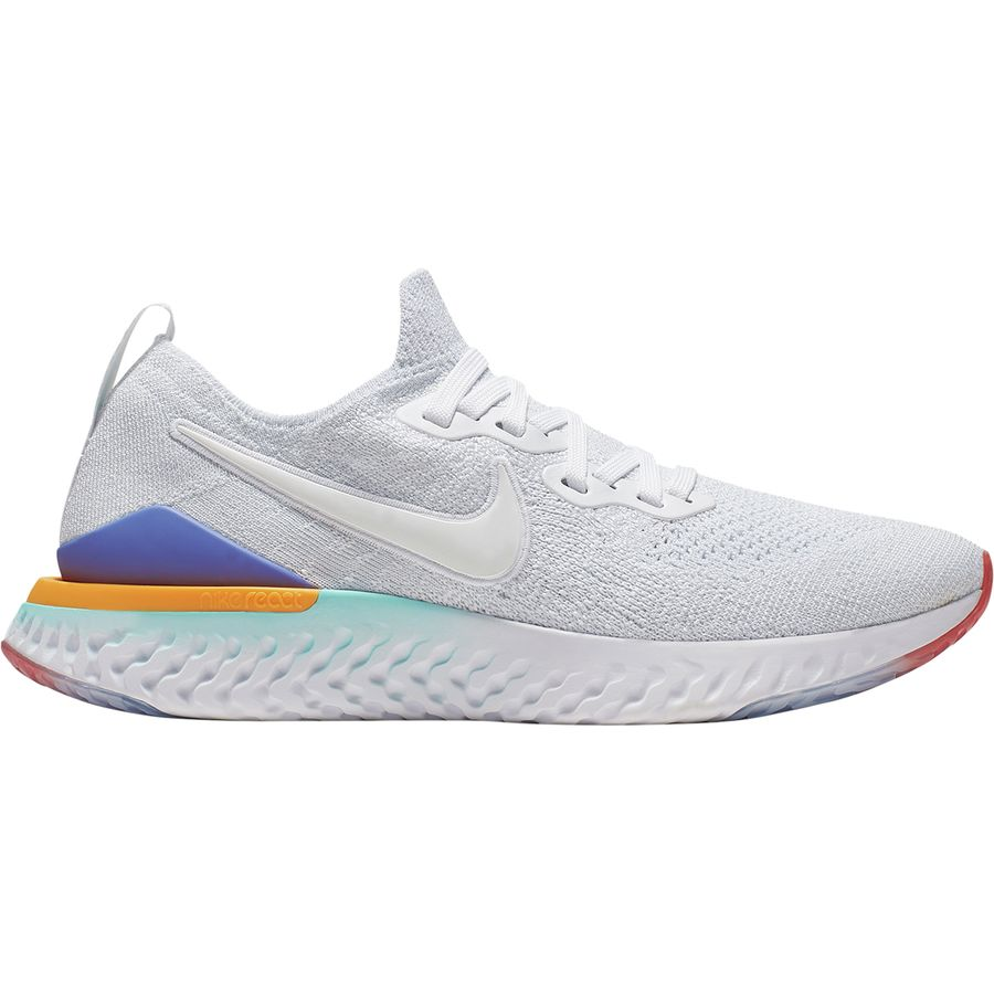 timeless design 85af2 d08c0 Nike - Epic React Flyknit 2 Running Shoe - Women s - White White-Hyper