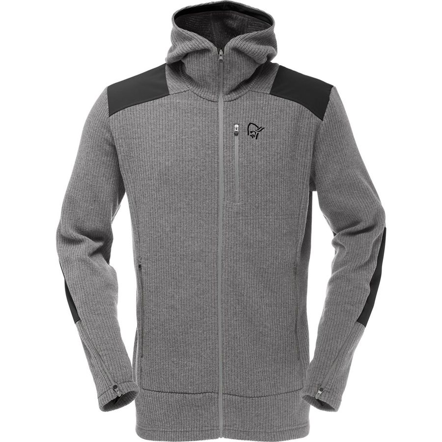 Norrona Tamok Warm/Wool2 Hooded Fleece Jacket - Mens