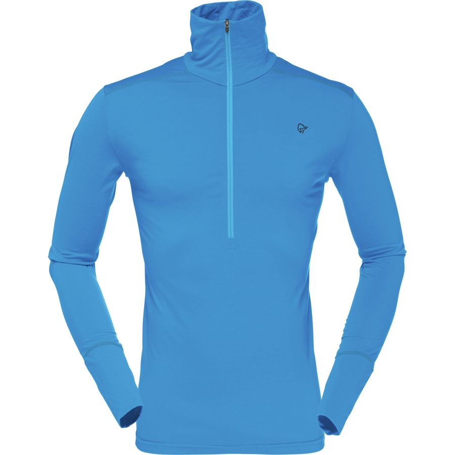 Norrøna Wool Zip Neck Top - Mens