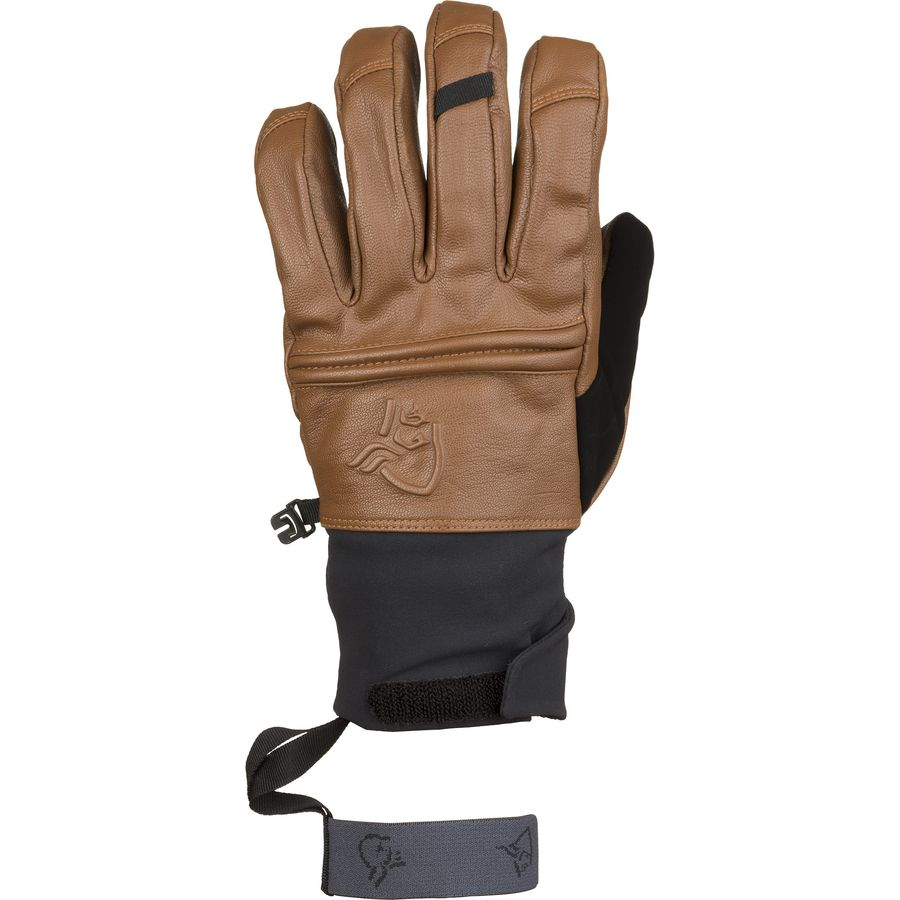 Osprey mens leather gloves - Norr Na R Ldal Dri Insulated Short Leather Glove Brown