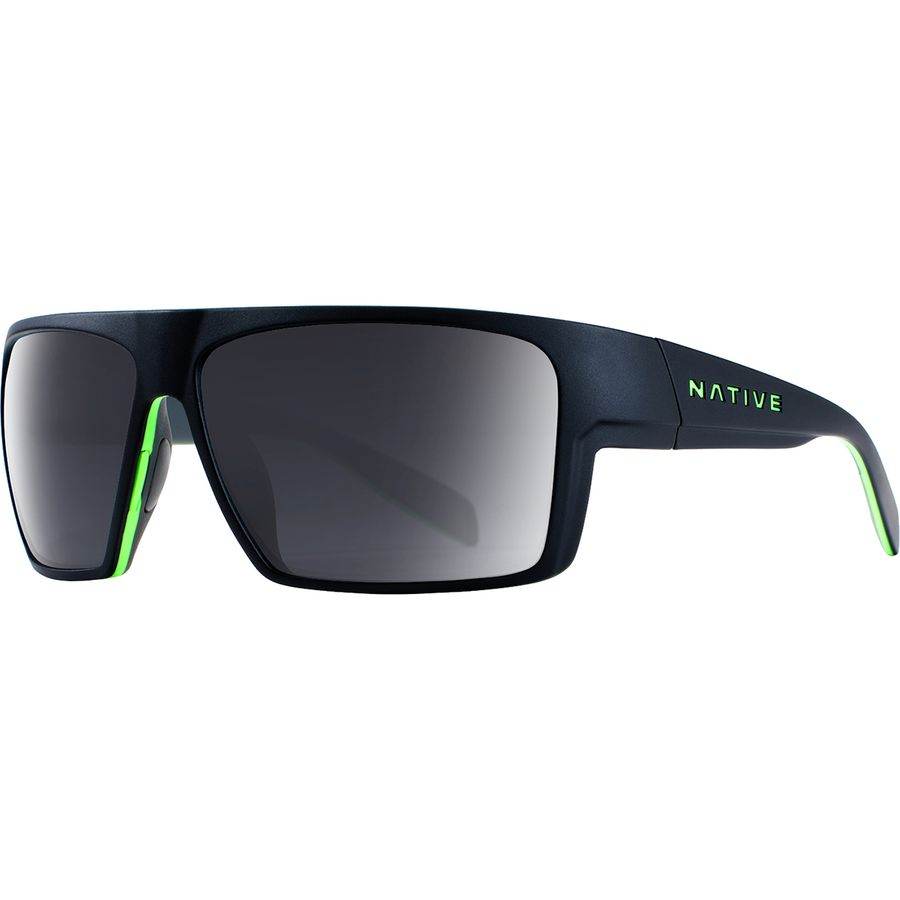 7dfe3b8c28 Native Eyewear - Eldo Polarized Sunglasses - Men s - Matte Black Lime Dark  Gray