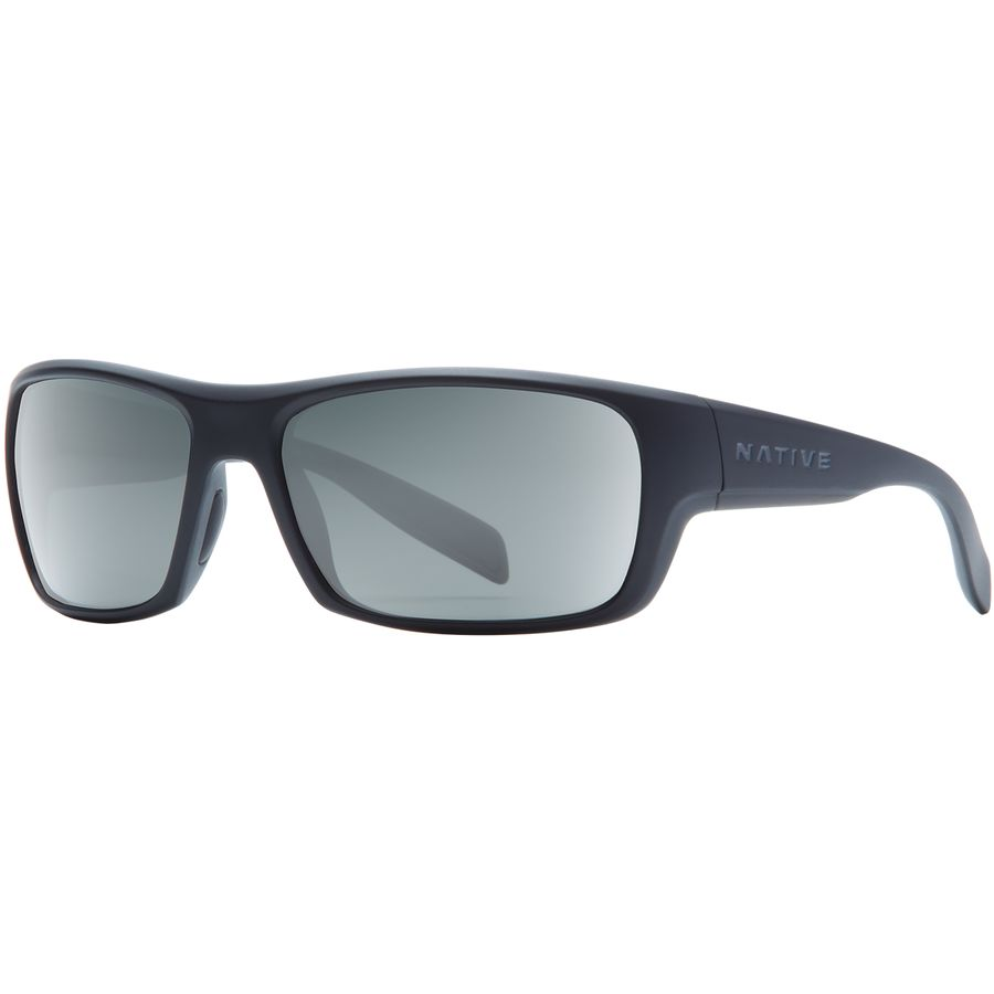 8eee11653d Native Eyewear - Eddyline Polarized Sunglasses - Matte Black   Granite Gray
