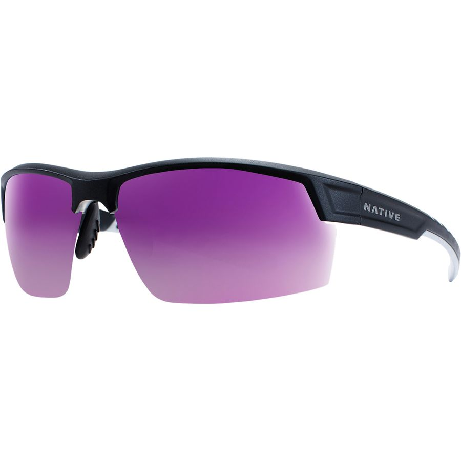 8185754c25 Native Eyewear - Catamount Polarized Sunglasses - Matte  Black Crystal-Violet Reflex