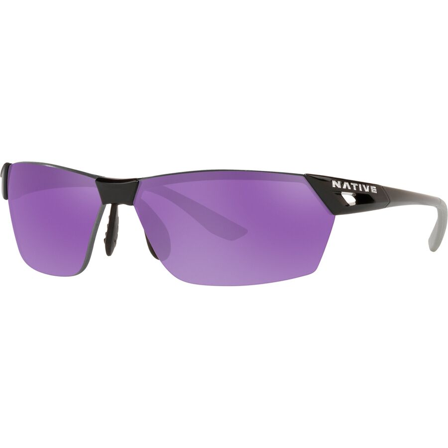 aeb391629e6 Native Eyewear - Vigor AF Polarized Sunglasses - Gloss Black Violet Reflex