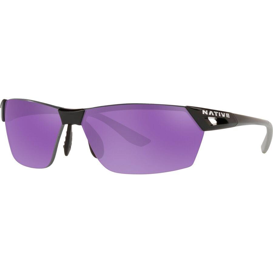 f4febbd85a Native Eyewear - Vigor AF Polarized Sunglasses - Gloss Black Violet Reflex
