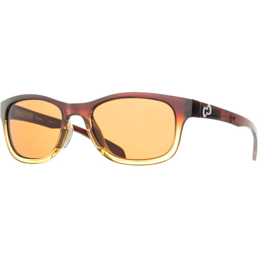 b4c16f443d Native Eyewear - Highline Polarized Sunglasses - Stout Fade-Iron  Temple-Grey Brown