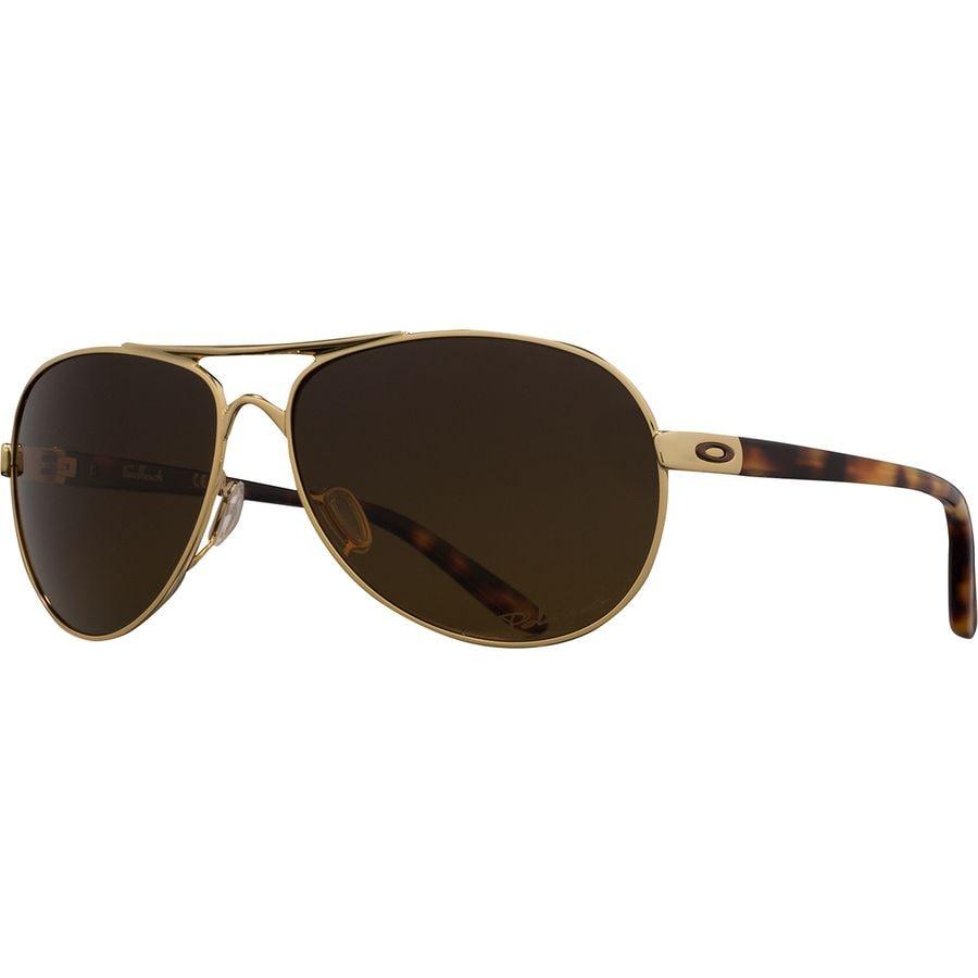 5b5486503c Oakley - Feedback Polarized Sunglasses - Women s - K Pol Gold W  Brn Grad  Polar