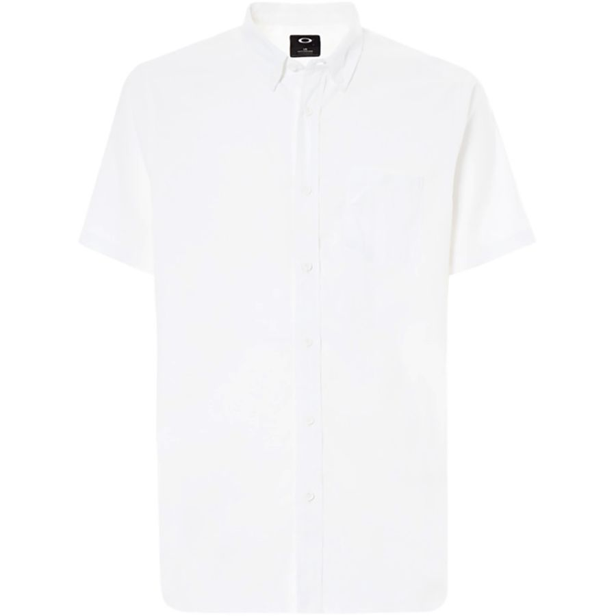 2227c14b01d2d Oakley - Short-Sleeve Solid Woven Shirt - Men s - White