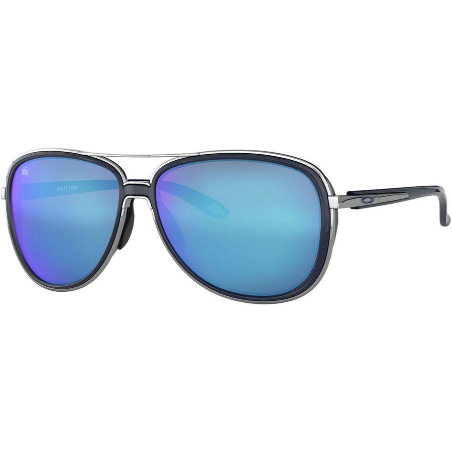 8ac9a586b9 Oakley - Split Time Team USA Sunglasses - Women's - Polished Chrome/Prizm  Sapphire
