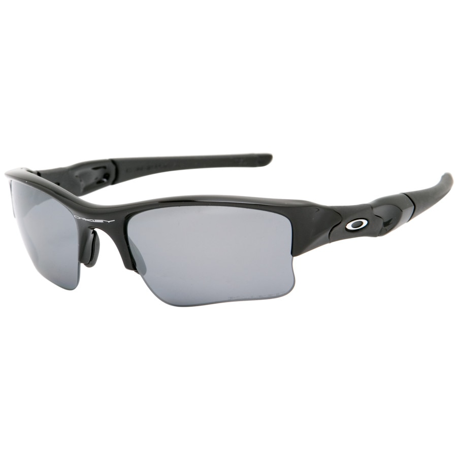 oakley flak jacket xlj polarised  oakley flak jacket xlj polarized sunglasses jet black/black iridium polarized