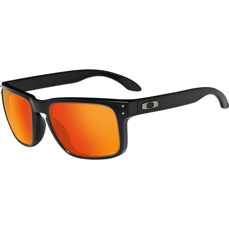oakley polarised sunglasses sale  oakley holbrook sunglasses polarized matte black/ruby iridium