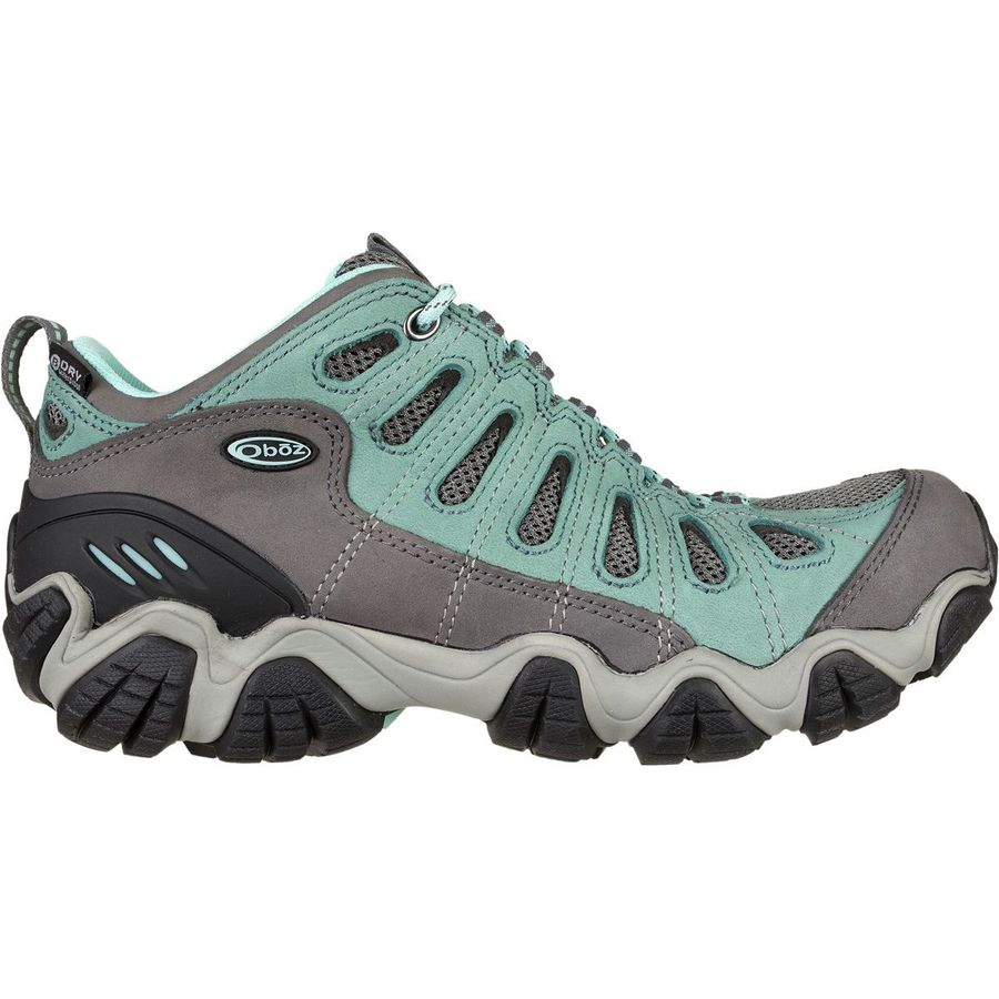 Oboz Sawtooth Low BDry Hiking Shoe Womens Mineral Blue