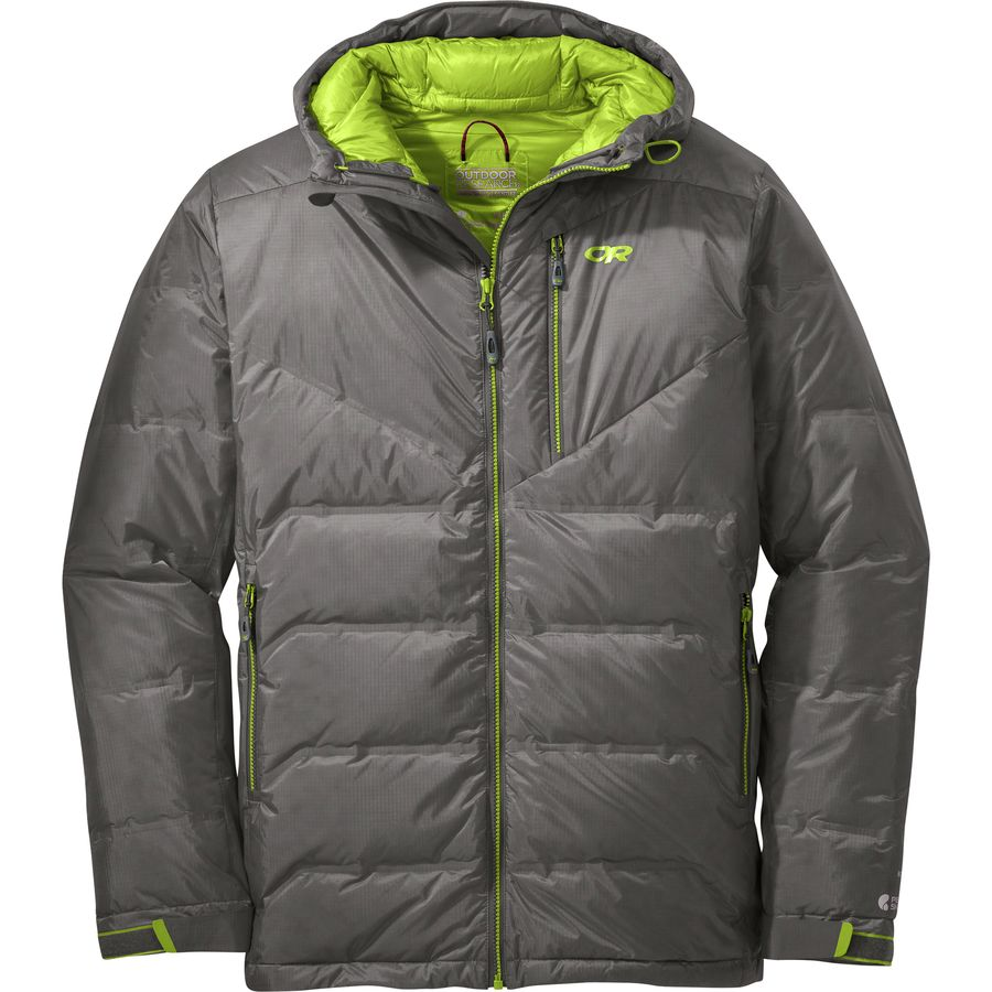 Outdoor Research - Floodlight Down Jacket - Men s - Pewter Lemongrass b1cec949f0