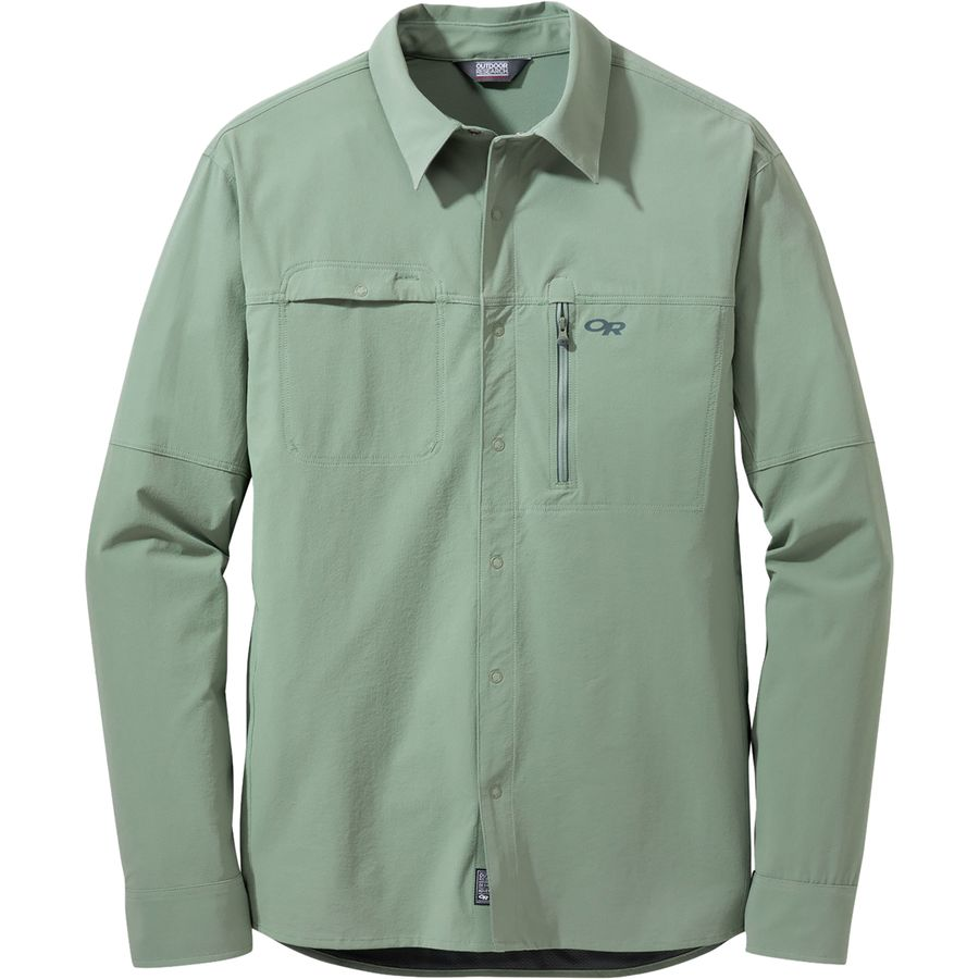 Outdoor research ferrosi utility long sleeve shirt men 39 s for Mens outdoor long sleeve shirts