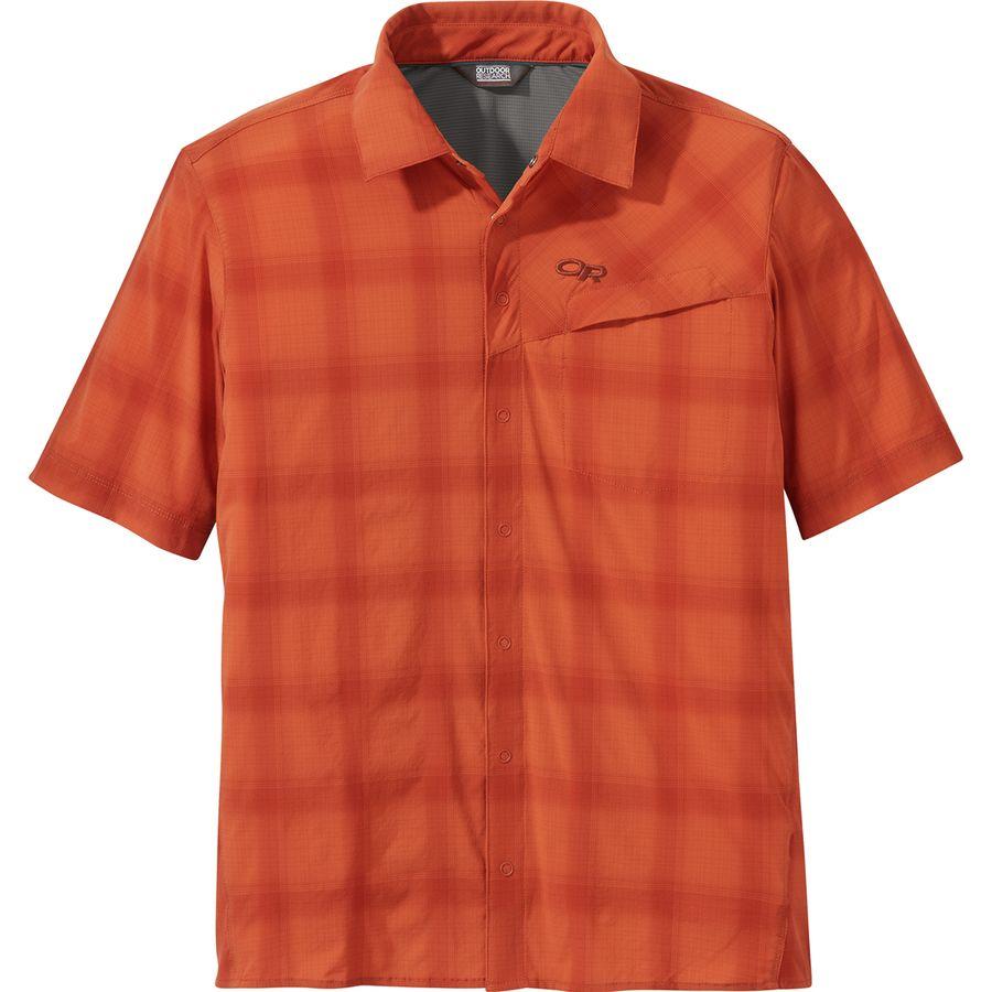 Outdoor Research - Astroman Short-Sleeve Sun Shirt - Men s - Burnt Orange 7dfc777fa857