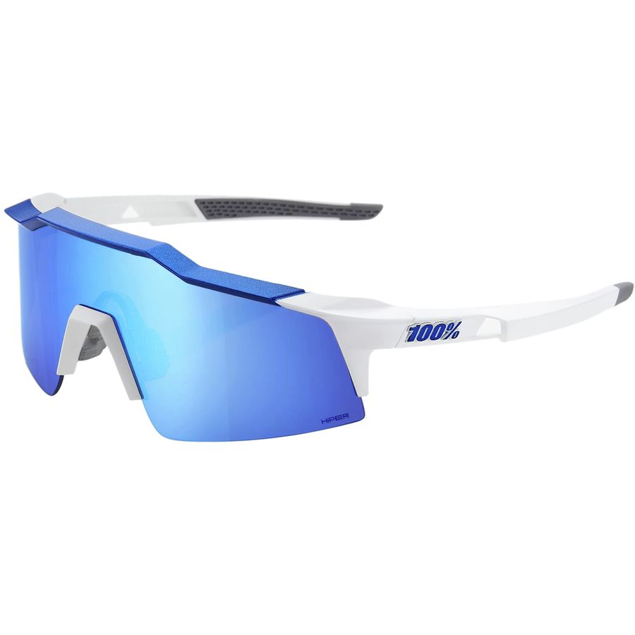 a5737cc7cbb45 100% - SpeedCraft SL Sport Sunglasses - Matte White Blue-Hiper Iceberg Blue