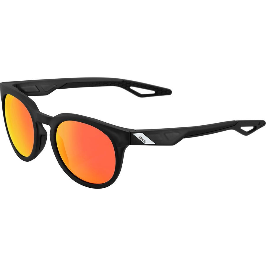 a04ed9ce73 100% - Campo Sunglasses - Matte Crystal Black-Hiper Red Multilayer Mirror  Lens