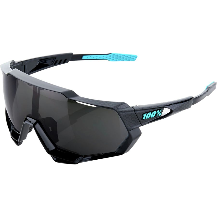 814ee81f12 100% - Speedtrap Sunglasses - Polished Black Graphic-Black Mirror Lens