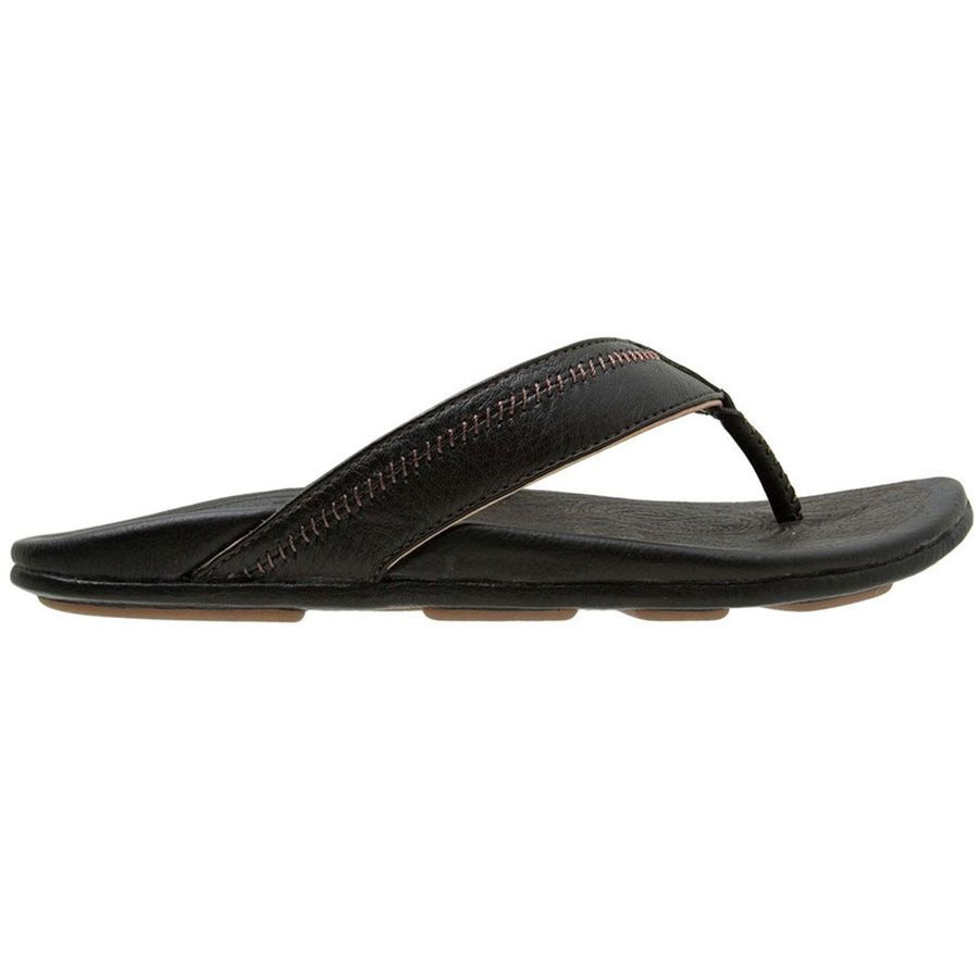 943dc3378500 Olukai - Hiapo Flip Flop - Men s - Black Black