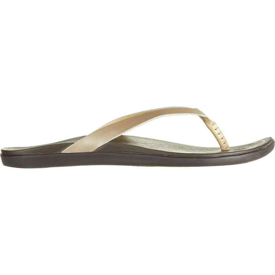 1c11ff9907027 Olukai - Ho opio Leather Flip Flop - Women s - Bubbly Dark Java