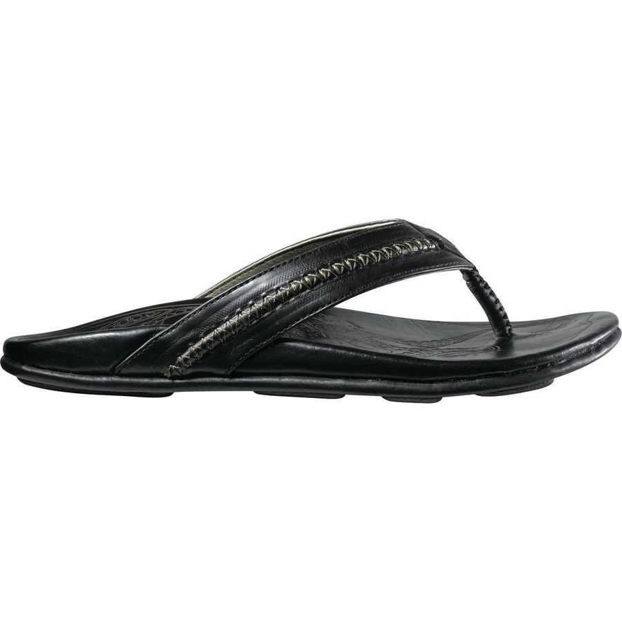 Olukai - Mea Ola Flip Flop - Men's - Black/Black