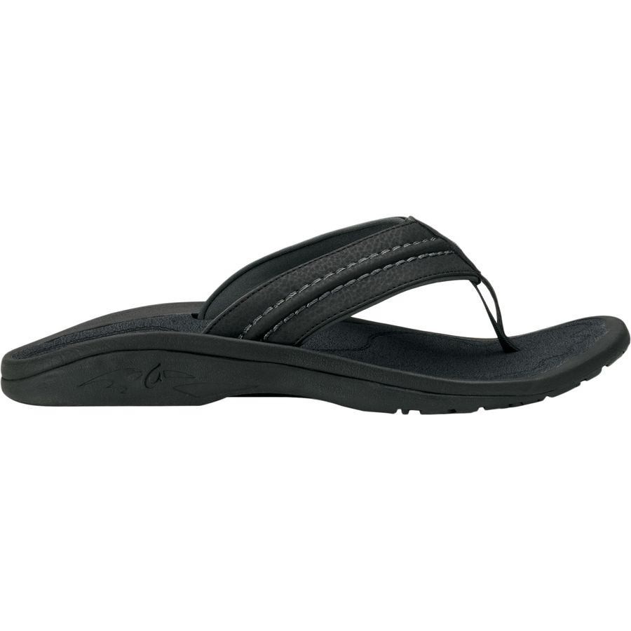 704a02f7a1e5 Olukai - Hokua Flip Flop - Men s - Black Dark Shadow