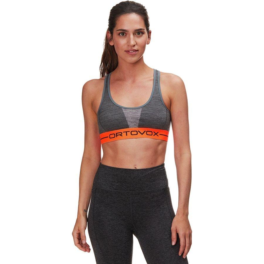 Ortovox - 185 Merino Rock N Wool Sports Bra - Women s - Dark Grey 05ee3369c