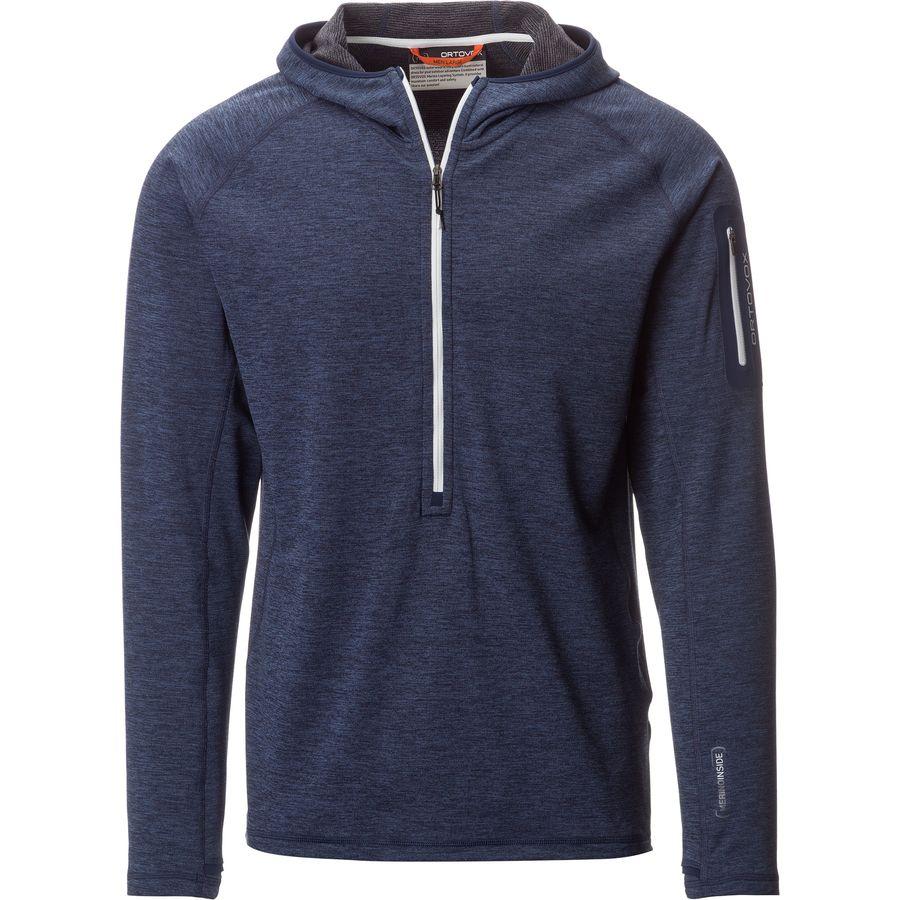 Ortovox Light Melange Hooded Zip-Neck Fleece Pullover - Mens