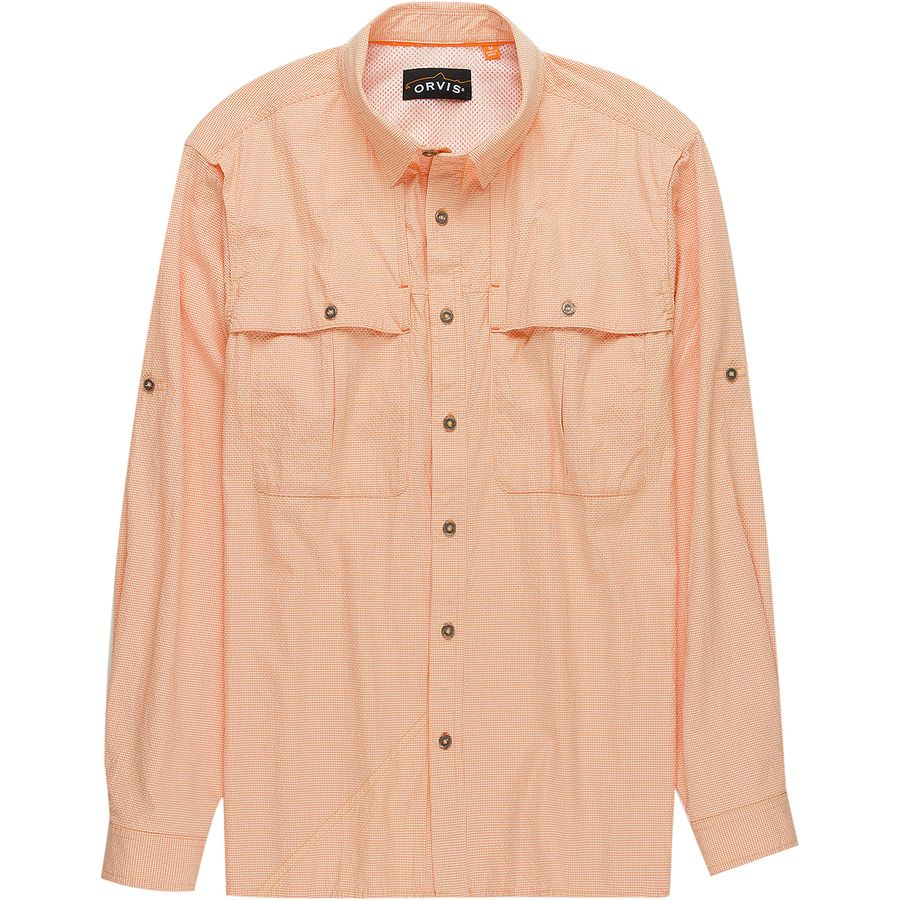 Casual Button-down Shirts Men's Clothing Search For Flights Orvis Open Air Caster Long Sleeve Shirt Mens Large Off White Vented Fishing