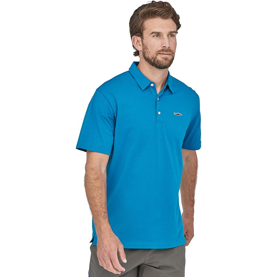 bf7348d3 Patagonia Trout Fitz Roy Polo Shirt - Men's | Backcountry.com
