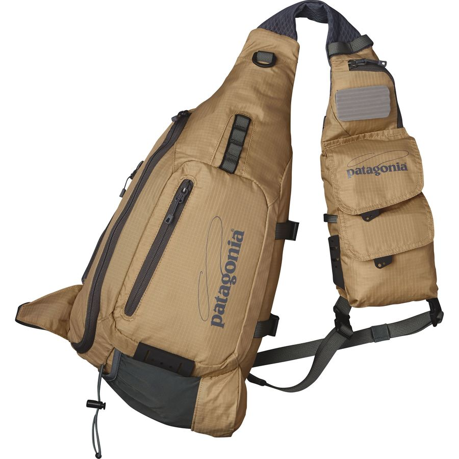 Patagonia vest front sling fly fishing 488cu in for Fishing sling pack