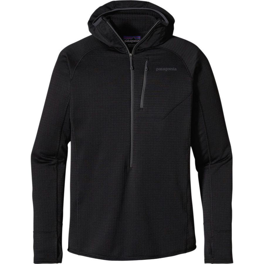 patagonia r1 fleece hooded 1 2 zip pullover men 39 s. Black Bedroom Furniture Sets. Home Design Ideas