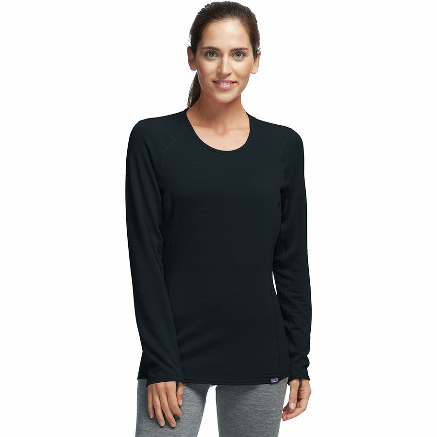 Patagonia - Capilene Thermal Weight Crew Top - Women s - Black 4dd3b69843c8