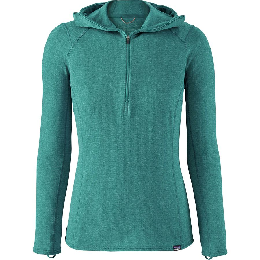 Patagonia Capilene Thermal Weight Zip-Neck Hooded Top - Womens