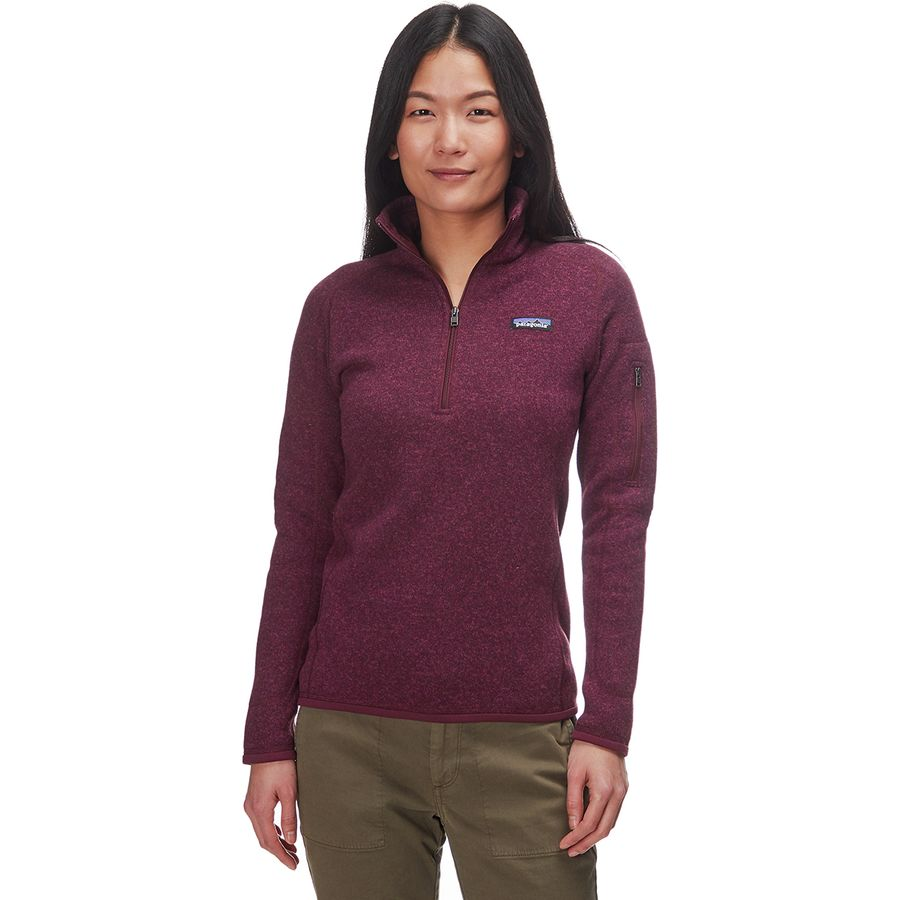 Patagonia - Better Sweater 1/4-Zip Fleece Jacket - Women's - Dark Currant
