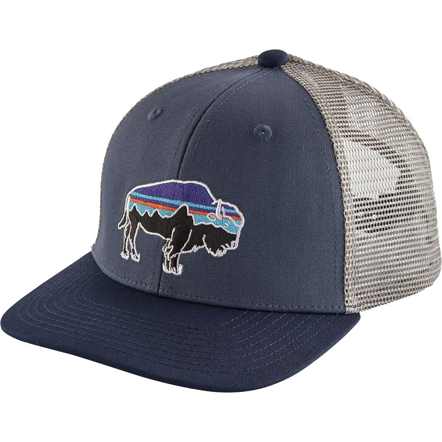 6619856fee5c1 Patagonia - Trucker Hat - Girls  - Fitz Roy Bison Dolomite Blue