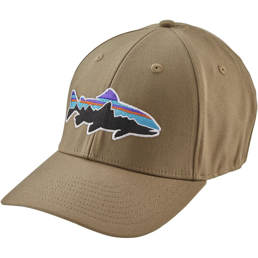 Patagonia fitz roy trout stretch fit hat for Patagonia fish hat