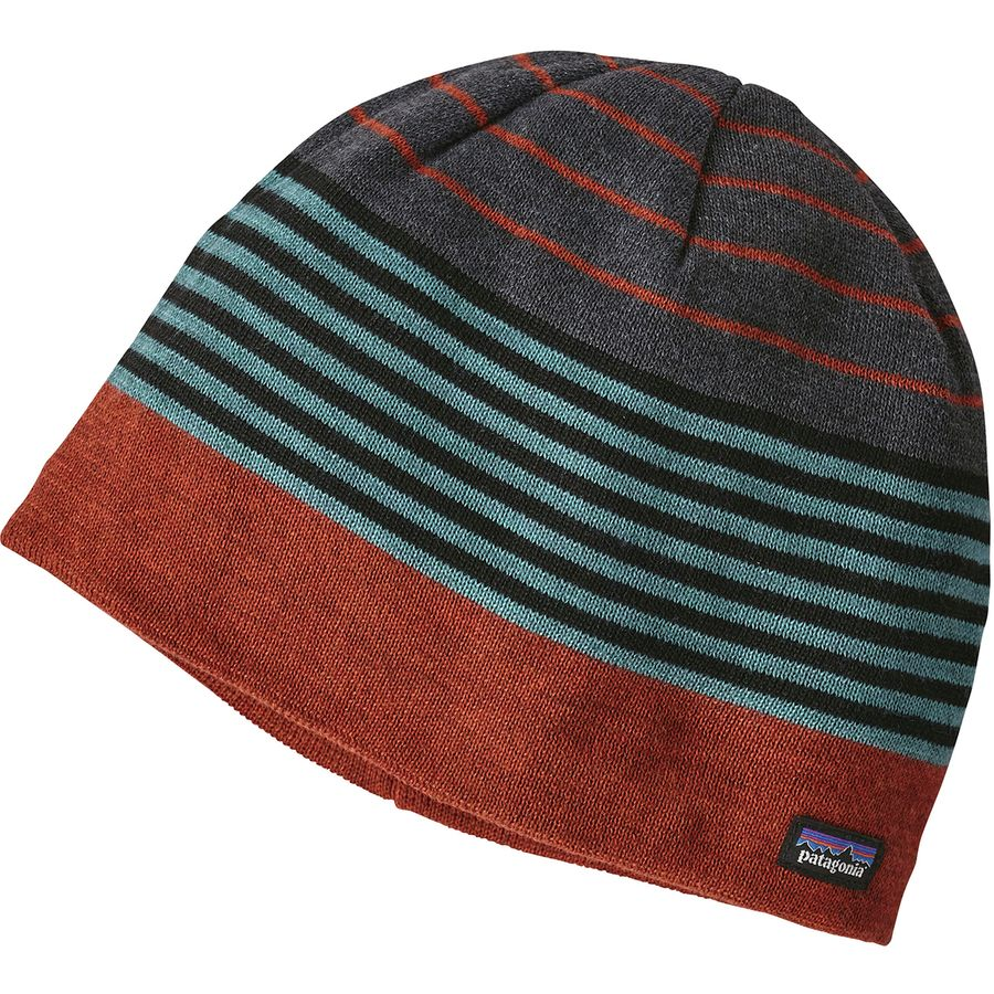 aac18335114 Patagonia - Beanie Hat - Boys  - Fitzroy Stripe Copper Ore