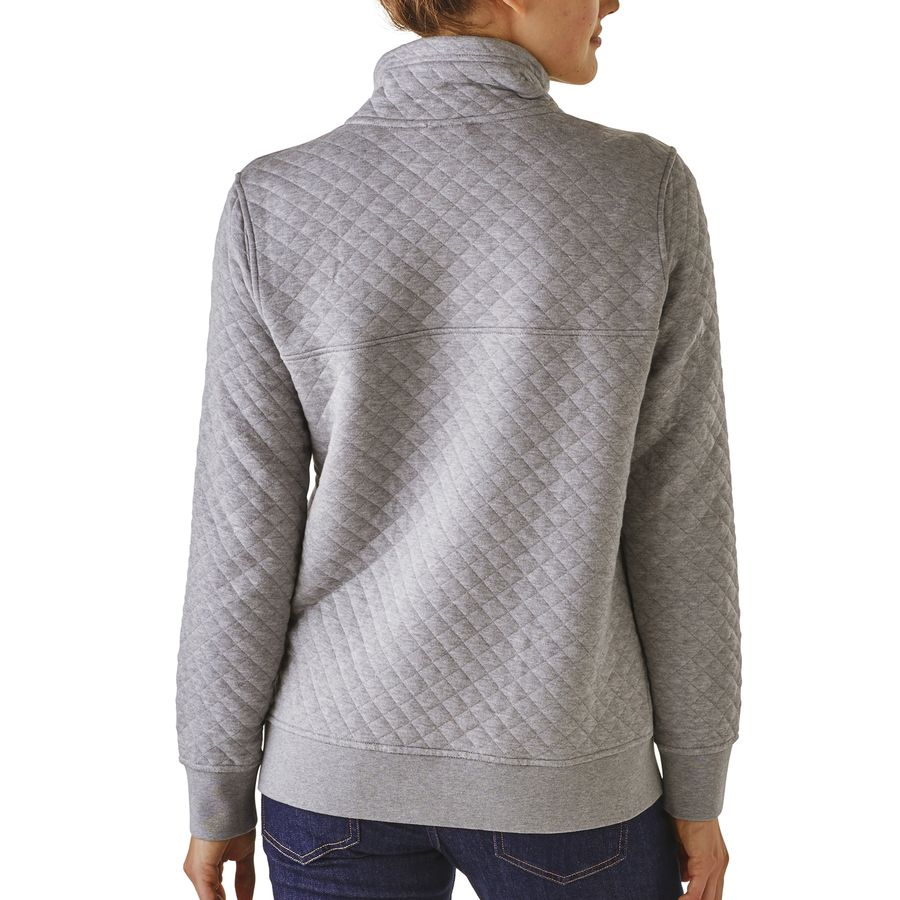 Patagonia Cotton Quilt Snap T Pullover Sweatshirt Women
