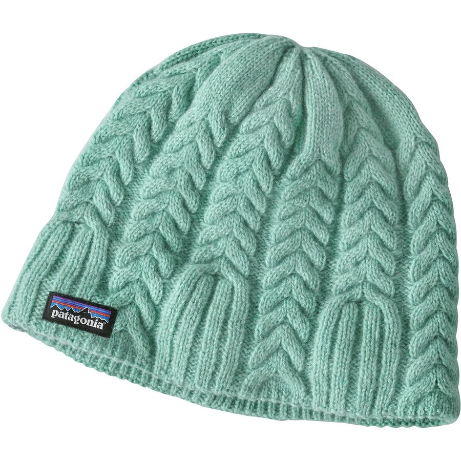 Patagonia - Cable Beanie - Women s - Vjosa Green ce6b4cb823a