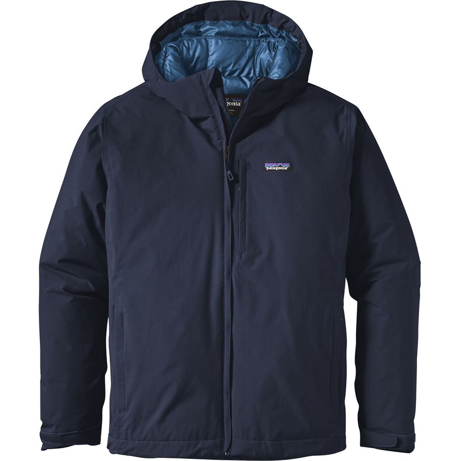 Patagonia - Windsweep Down Hooded Jacket - Men s - Navy Blue d86ee6d52