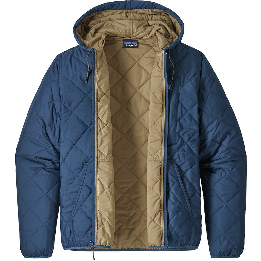 Patagonia Diamond Quilted Bomber Hooded Jacket Men S