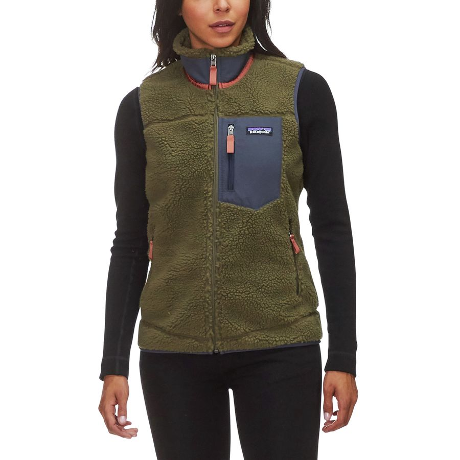 Patagonia - Classic Retro-X Fleece Vest - Women s - Fatigue Green 27cdbbe9f