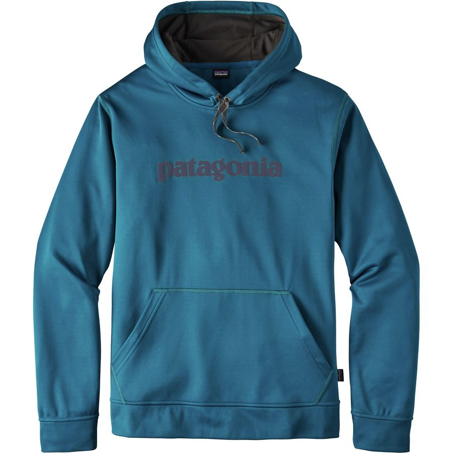 Patagonia Text Logo PolyCycle Pullover Hoody - Mens
