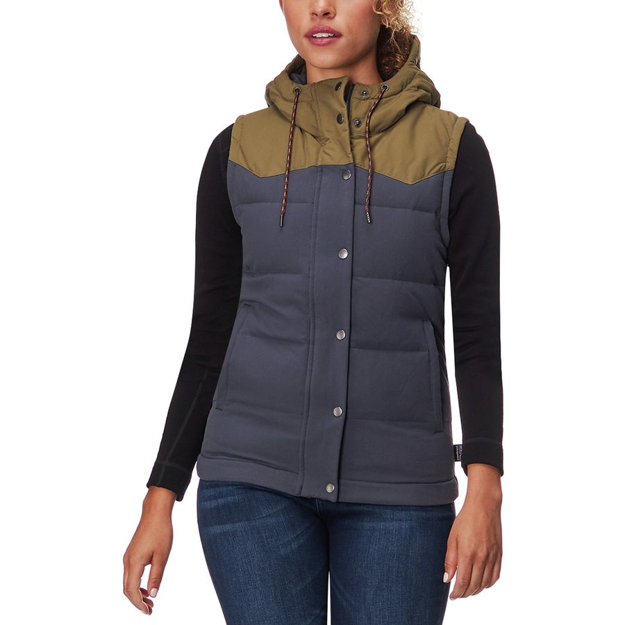 95ade0cecd7 Patagonia - Bivy Hooded Down Vest - Women's - Smolder Blue Fatigue Green